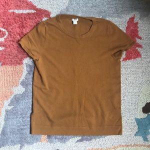 J Crew Ochre short sleeve sweater
